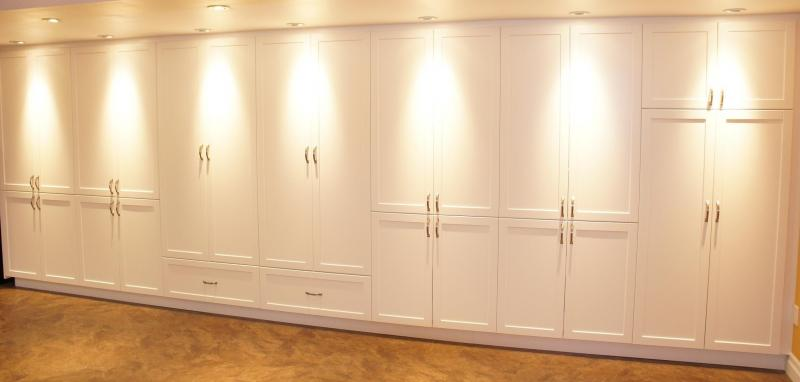 Built  In Wall Closets.